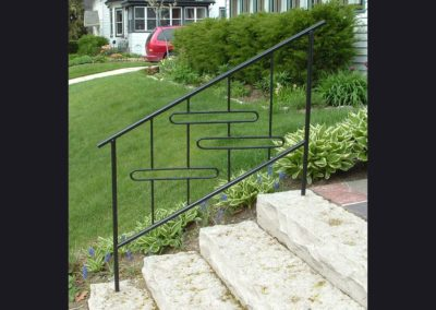 Railing with ovals