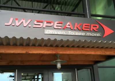 J.W. Speaker - sign at front door