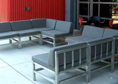 Harley Museum Aluminum Patio Seating