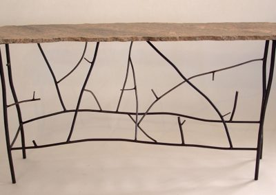 "Steel ""Twig"" Table with Granite Top  - 60 in wide"