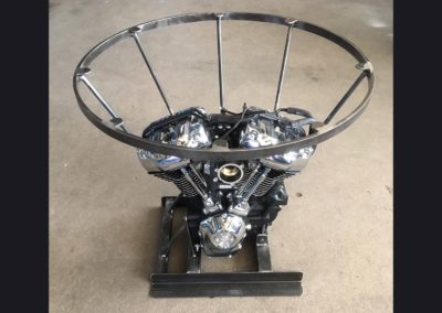 Harley Motor Table 30 in Diameter for Glass  Top